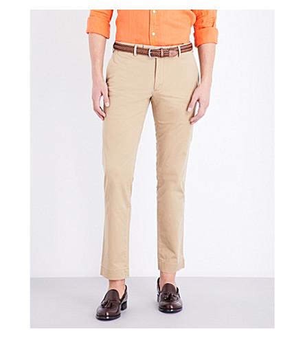 POLO RALPH LAUREN Hudson slim-fit stretch-cotton chinos (Luxury+tan