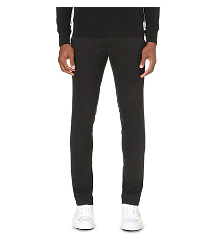 POLO RALPH LAUREN Hudson slim-fit stretch-cotton chinos (Polo+black