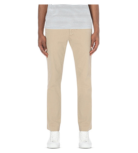 POLO RALPH LAUREN Newport slim-fit tapered cotton trousers (Khaki