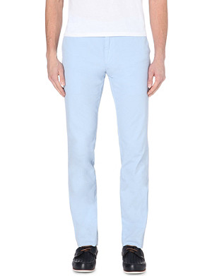 RALPH LAUREN Newport slim-fit tapered cotton trousers