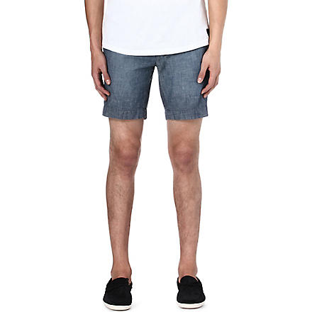 RALPH LAUREN Kingsley straight-fit chambray shorts (Indigo