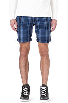 RALPH LAUREN Silk-blend straight-fit shorts