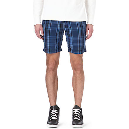 RALPH LAUREN Silk-blend straight-fit shorts (Cr-01 blue/navy
