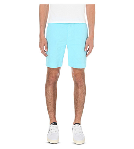 POLO RALPH LAUREN Straight-fit cotton shorts (Blue