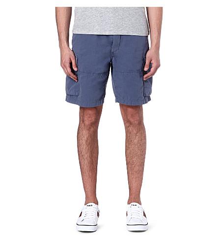 RALPH LAUREN Relaxed-fit cargo shorts (Blueberry