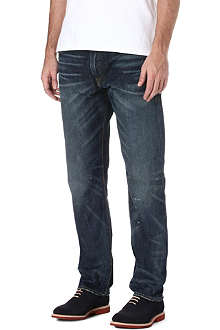 RALPH LAUREN Slim-fit distressed jeans