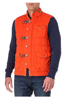 RALPH LAUREN Quilted-cotton gilet