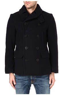 RALPH LAUREN Wool anchor peacoat