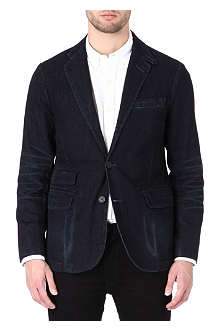 RALPH LAUREN Cotton-denim single breasted jacket