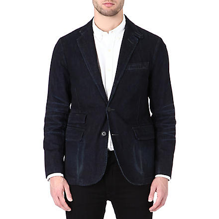 RALPH LAUREN Cotton-denim single breasted jacket (Wescott