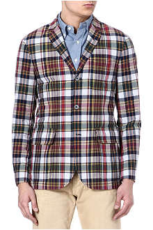 RALPH LAUREN Grafton Madras checked blazer