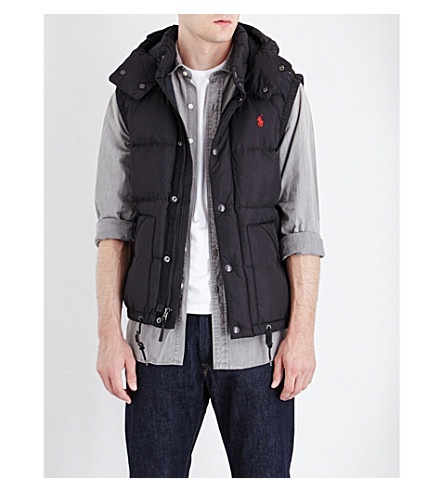 POLO RALPH LAUREN Elmwood quilted vest (Polo+black