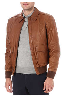 RALPH LAUREN Farrington leather bomber jacket