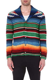 RALPH LAUREN Striped shawl neck cardigan