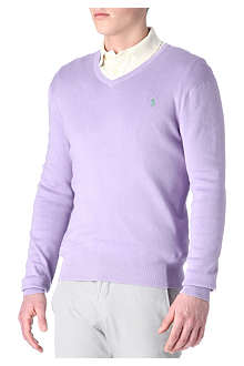 RALPH LAUREN Pima-cotton slim-fit jumper