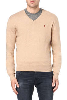 RALPH LAUREN Slim-fit v-neck jumper