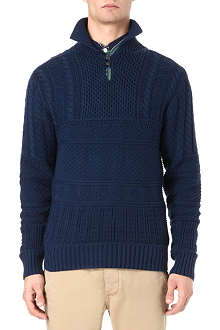 RALPH LAUREN Cable knit stand collar jumper