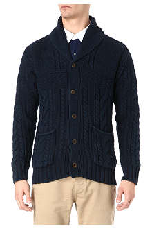 RALPH LAUREN Shawl neck cable knit cardigan