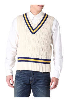 RALPH LAUREN Cricket cable-knit vest