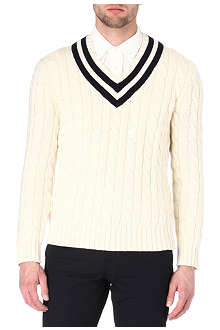 RALPH LAUREN Tennis v–neck jumper