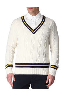 RALPH LAUREN Cricket cable-knit jumper