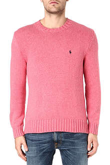 RALPH LAUREN Pony cotton knit jumper