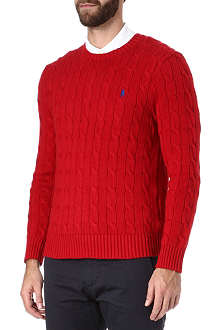 RALPH LAUREN Cable knit crew-neck jumper