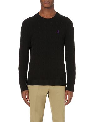 RALPH LAUREN Cable-knit crew-neck jumper