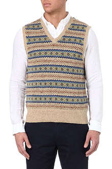 RALPH LAUREN Fair Isle tank top