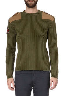 RALPH LAUREN Appliqué ribbed jumper