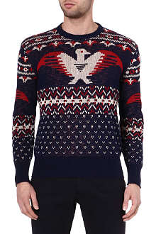 RALPH LAUREN Eagle Fair Isle knit jumper