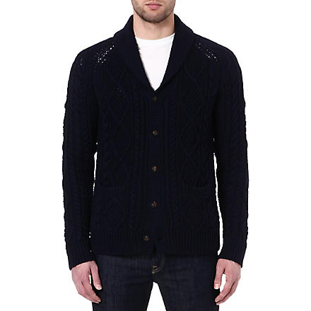 RALPH LAUREN Cable-knit cardigan (Navy