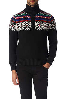 RALPH LAUREN Toggle mock-neck jumper