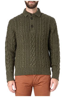RALPH LAUREN Estate button-neck jumper