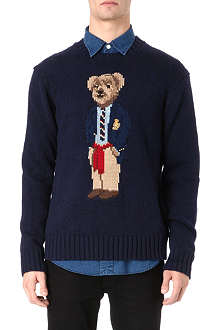 RALPH LAUREN Teddy bear motif knitted jumper