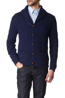 RALPH LAUREN Cable-knit shawl-collar cardigan