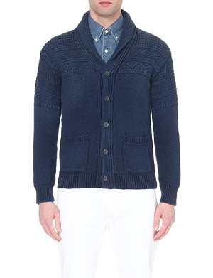 RALPH LAUREN Chunky-knit cotton cardigan