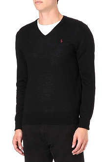 RALPH LAUREN Slim-fit merino wool jumper