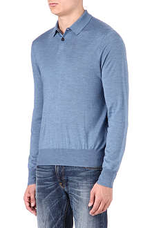 RALPH LAUREN Knitted polo jumper