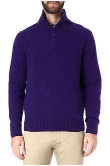 RALPH LAUREN Funnel neck wool-blend jumper