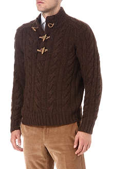 RALPH LAUREN Explorer cable-knit jumper