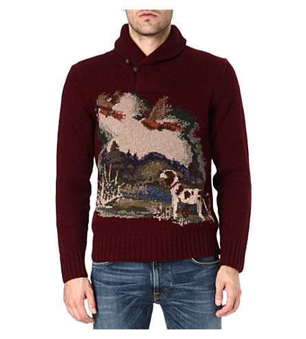 RALPH LAUREN Estate shawl collar knitted jumper (Scenic