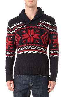 RALPH LAUREN Nordic shawl-collar jumper