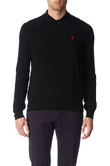 RALPH LAUREN Long-sleeved wool polo shirt