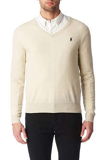 RALPH LAUREN V–neck wool jumper