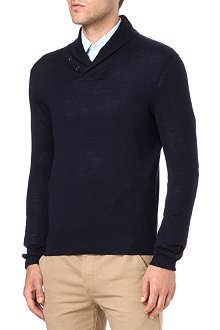 RALPH LAUREN Shawl collar jumper