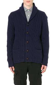 RALPH LAUREN Shawl-lapel cable-knit cardigan