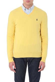 RALPH LAUREN V-neck wool jumper