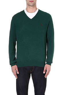 RALPH LAUREN V-neck wool jumper