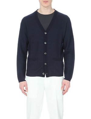 RALPH LAUREN V-neck cashmere and linen cardigan